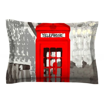 London by Oriana Cordero Red Featherweight Pillow Sham