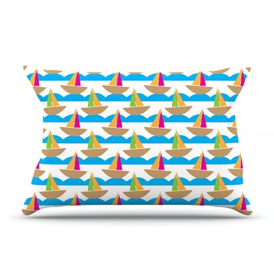 Beside The Seaside by Apple Kaur Designs Boats Cotton Pillow Sham
