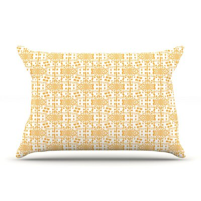 Diamonds by Apple Kaur Designs Squares Cotton Pillow Sham