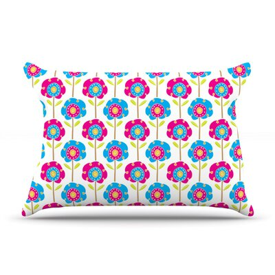 Lolly Flowers by Apple Kaur Designs Cotton Pillow Sham