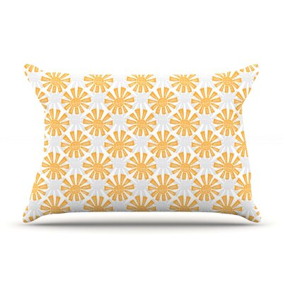 Sunburst by Apple Kaur Designs Featherweight Pillow Sham, Gray