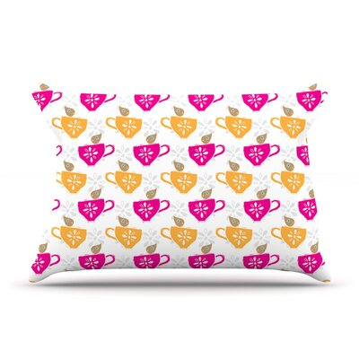 Tea-Birds by Apple Kaur Designs Cotton Pillow Sham