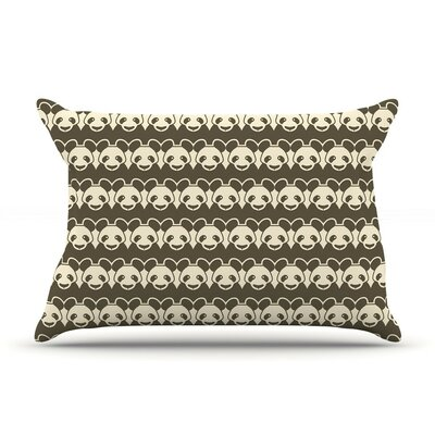 Panddern by Tobe Fonseca Panda Cotton Pillow Sham