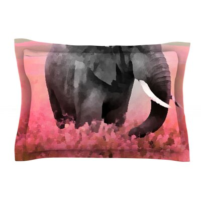 Ele-Phant by Oriana Cordero Pink Featherweight Pillow Sham