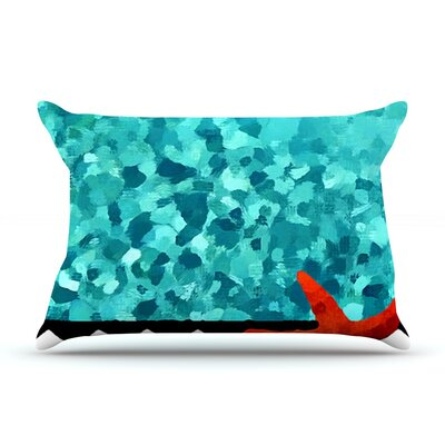 Turquoise Ocean by Oriana Cordero Cotton Pillow Sham