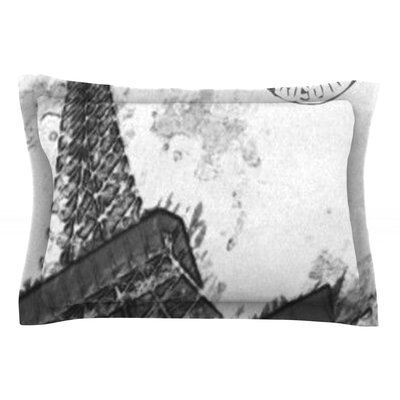 Bonjour Mon Amour by Oriana Cordero Eiffel Cotton Pillow Sham