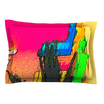 Days of Summer by Oriana Cordero Rainbow Abstract Cotton Pillow Sham