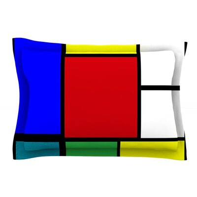 Mondrian and Me by Oriana Cordero Squares Cotton Pillow Sham