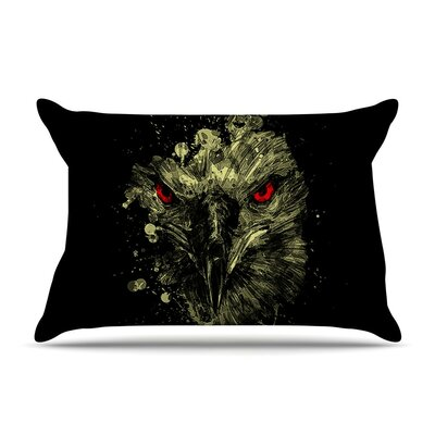 Eagle by BarmalisiRTB Yellow Featherweight Pillow Sham