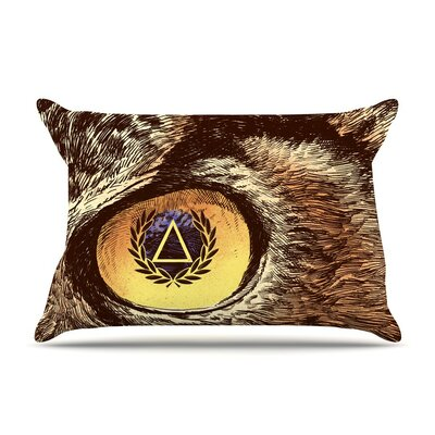 Sharp Eye by BarmalisiRTB Owl Cotton Pillow Sham