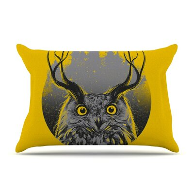 Majesty by BarmalisiRTB Owl Cotton Pillow Sham