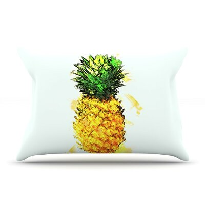 Slice of Summer by Oriana Cordero White Featherweight Pillow Sham