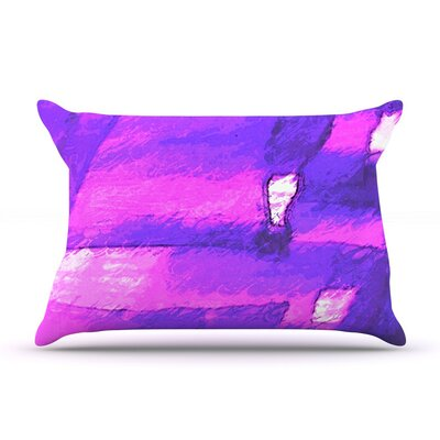 Suenos En Purpura by Oriana Cordero Cotton Pillow Sham