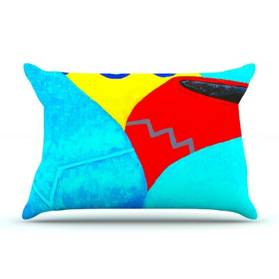 Terracotta by Oriana Cordero Aqua Featherweight Pillow Sham