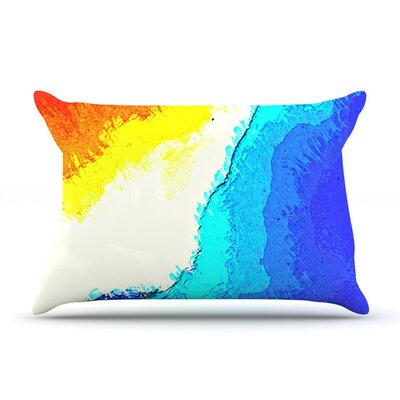 Amalfi Coast by Oriana Cordero Cotton Pillow Sham
