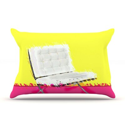 Barcelona Chair by Oriana Cordero Cotton Pillow Sham