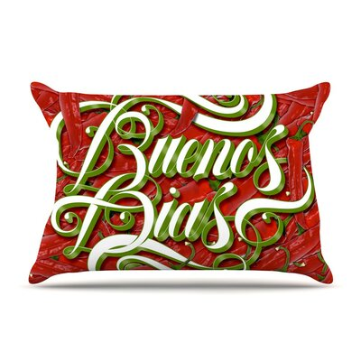 Buenos Dias by Roberlan Good Day Cotton Pillow Sham