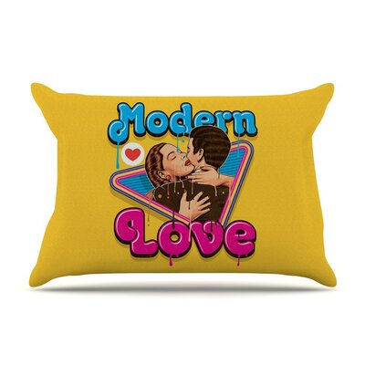 Modern Retro Love by Roberlan Neon Featherweight Pillow Sham