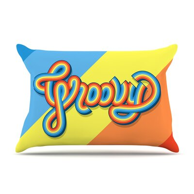 Groovy by Roberlan Typography Featherweight Pillow Sham