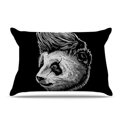 Funky Panda by BarmalisiRTB Cotton Pillow Sham