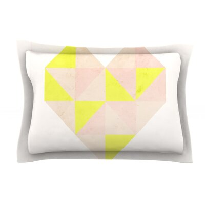 Geo Heart by Skye Zambrana Cotton Pillow Sham
