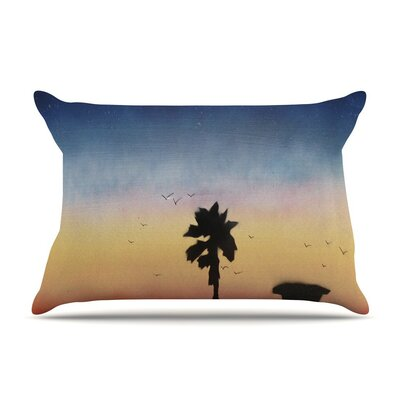 Carlsbad Sunset by Infinite Spray Art Coastal Painting Cotton Pillow Sham