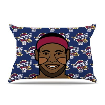 Lebron James by Will Wild Basketball Featherweight Pillow Sham