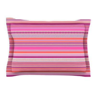 Ribbons by Nandita Singh Blush Purple Featherweight Pillow Sham