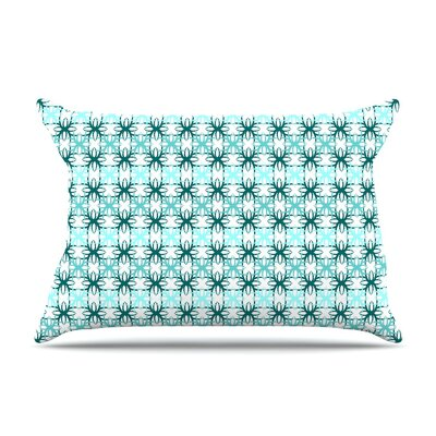 Motifs by Nandita Singh Aqua Geometric Featherweight Pillow Sham