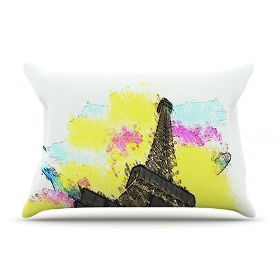Eifel-Bon Jour by Oriana Cordero Paris Cotton Pillow Sham
