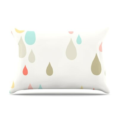 Rainy Days Rain by Very Sarie Cotton Pillow Sham