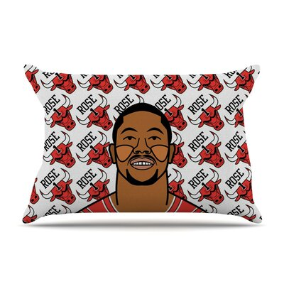 Derrick Rose by Will Wild Basketball Cotton Pillow Sham