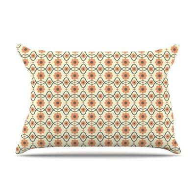 Floral Peach by Nandita Singh Cotton Pillow Sham