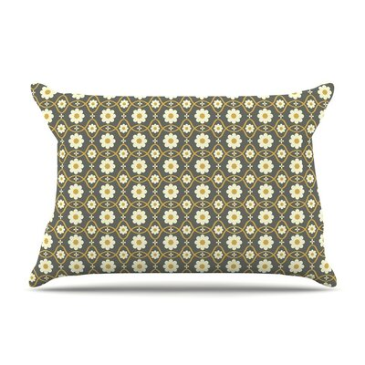 Floral Gray by Nandita Singh Featherweight Pillow Sham