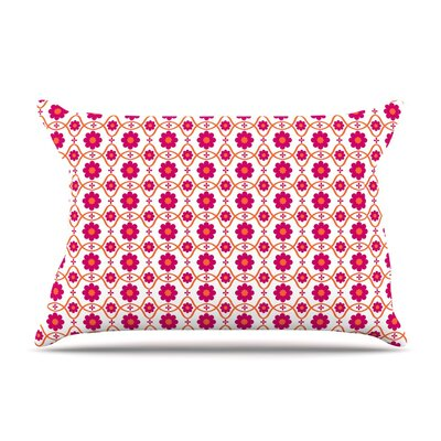Floral Magenta by Nandita Singh Cotton Pillow Sham