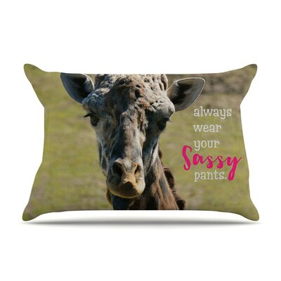 Sassy Pants by Robin Dickinson Green Featherweight Pillow Sham