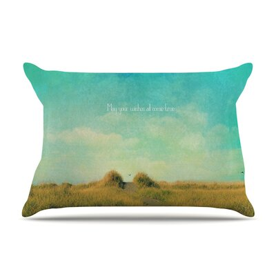 May Your Wishes by Robin Dickinson Blue Featherweight Pillow Sham