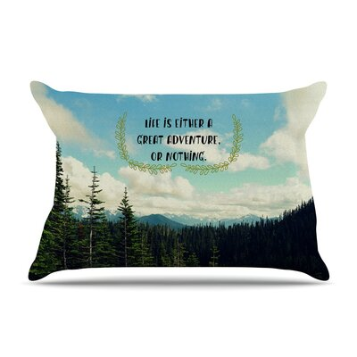 Life Is... Landscape Typography by Robin Dickinson Cotton Pillow Sham