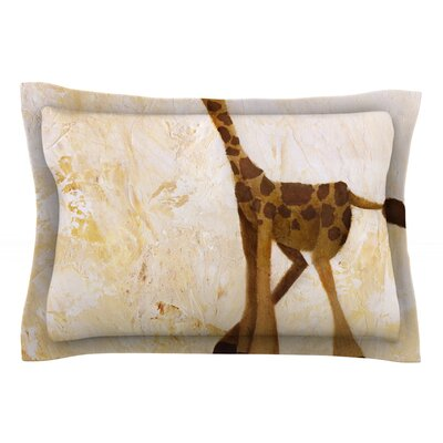 Georgey The Giraffe by Rachel Kokko Cotton Pillow Sham