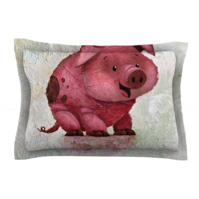 This Little Piggy by Rachel Kokko Featherweight Pillow Sham