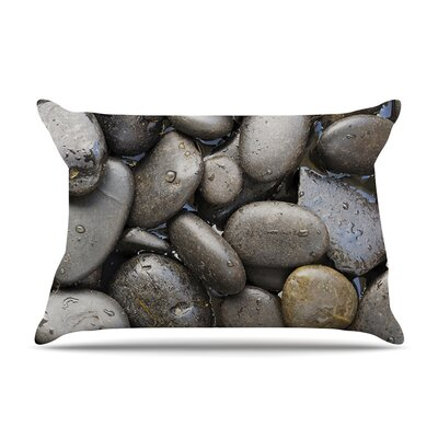Skipping Stone Rocks by Susan Sanders Cotton Pillow Sham