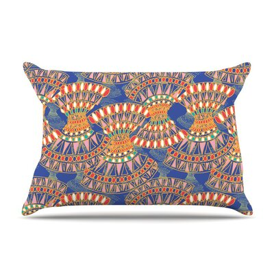 Energy Blue Abstract by Miranda Mol Cotton Pillow Sham