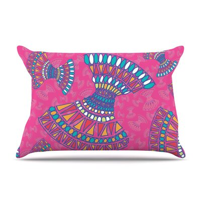 Tribal Fun Magenta Abstract by Miranda Mol Cotton Pillow Sham