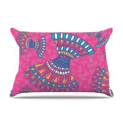 Tribal Fun by Miranda Mol Magenta Abstract Featherweight Pillow Sham