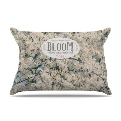 Bloom Where You Are Planted by Robin Dickinson Floral Featherweight Pillow Sham
