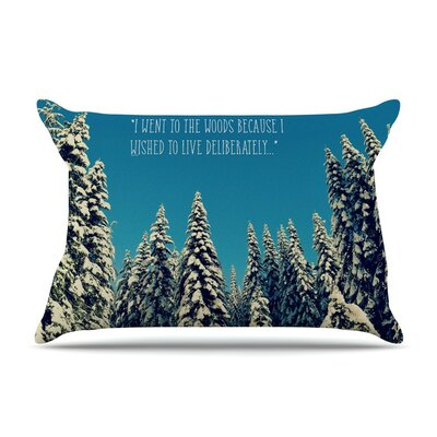 I Went to the Woods by Robin Dickinson Cotton Pillow Sham