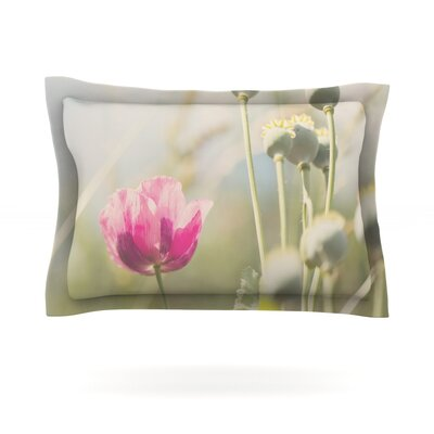 Looking Up by Laura Evans Flower Cotton Pillow Sham