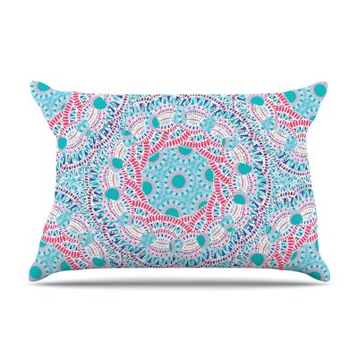 Prismatic White by Miranda Mol Abstract Featherweight Pillow Sham