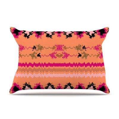 Peachy Nava Tribal by Nina May Cotton Pillow Sham