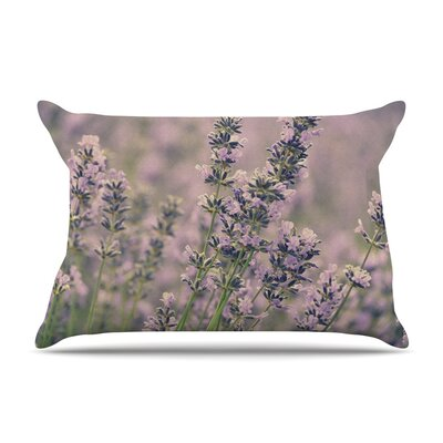 Smell the Flowers by Robin Dickinson Lavender Featherweight Pillow Sham